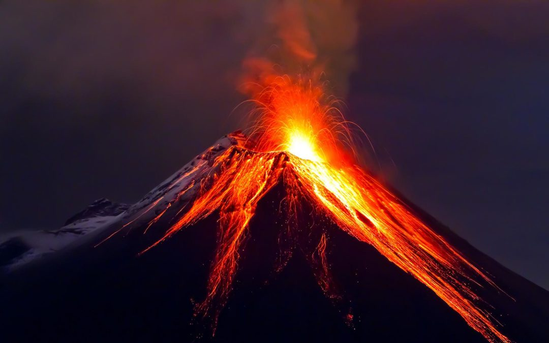 Volcano heats high-mountain lake to 108 degrees